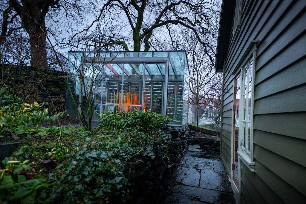 Gartenhaus aus Glas